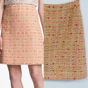 Kate Spade multicolor tweed skirt Sz 00
